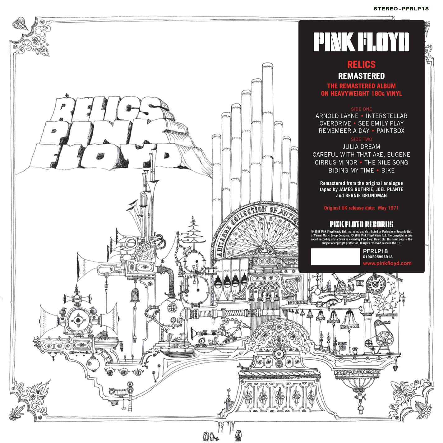 Réédition compilation Relics de Pink Floyd
